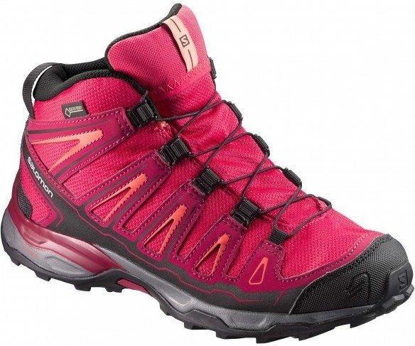 Salomon X Ultra Mid GTX K virtual pink/beet red