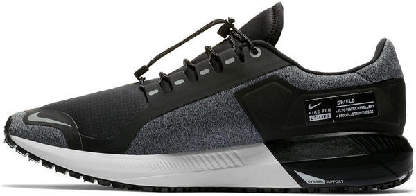 Nike Air Zoom Structure 22 Shield Water-Repellent black//cool grey/vast grey/metallic silver
