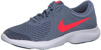 Nike Revolution 4 GS Ashen Slate/Flash Crimson-Diffused Blue