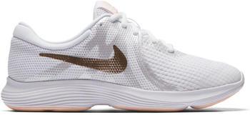 Nike Revolution 4 Youth (943306) White/Gold