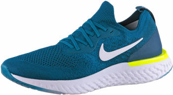 Nike Epic React Flyknit Green Abyss White Blue Force Volt