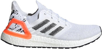 Adidas Ultraboost 20 white/core black/signal coral