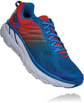 Hoka One One CLIFTON 6 (1102872) Men Mandarin Red/Imperial Blue