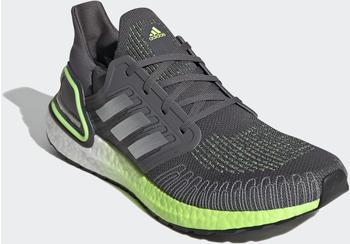 Adidas Ultraboost 20 grey five/silver metallic/signal green