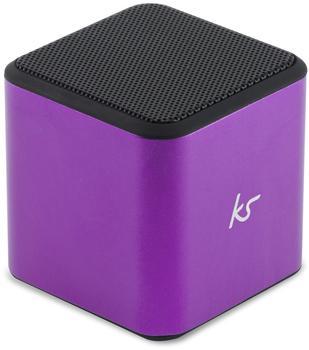 Kitsound Cube Bluetooth Lautsprecher violett