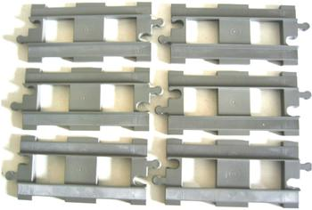 Lego Duplo 6 gerade Schienen dunkelgrau
