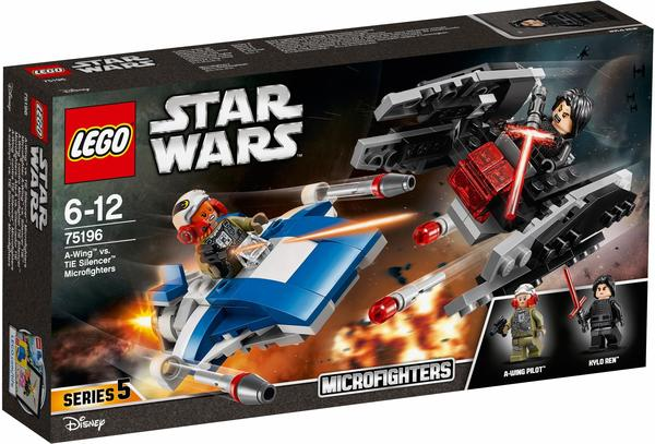 LEGO Star Wars - A-Wing vs. TIE Silencer Microfighters (75196)
