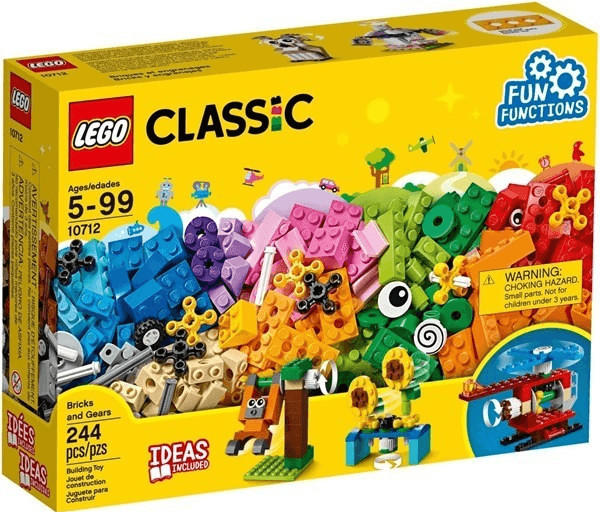 LEGO Classic - Bausteine-Set Zahnräder (10712)