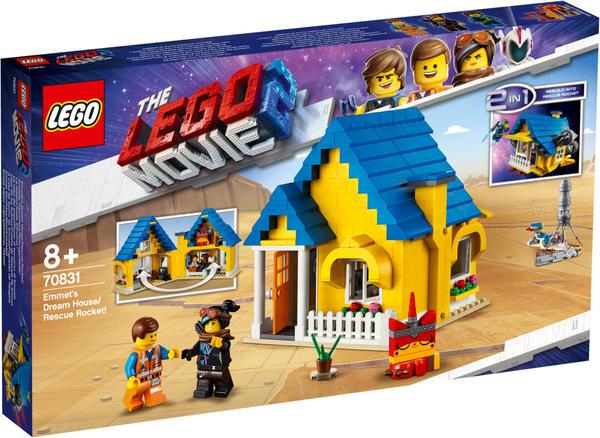 LEGO The Lego Movie 2 - 2 in 1 Emmets Traumhaus / Rettungsrakete! (70831)