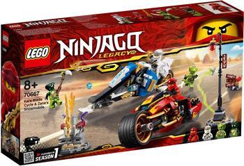 LEGO Ninjago - Kais Feuer-Bike & Zanes Schneemobil (70667)
