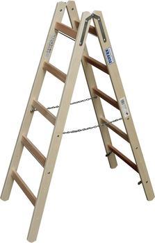 Krause Holz Sprossen-Doppelleiter 2x5