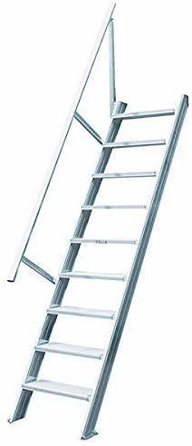 Hymer Treppe stationär ohne Podest, Treppenneigung 60°, Stufenbreite 600 mm, Standhöhe m, 225 22100609
