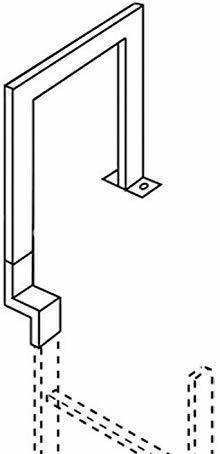 Zarges Übersteigbügel 250 mm tief, Edelstahl, 47244