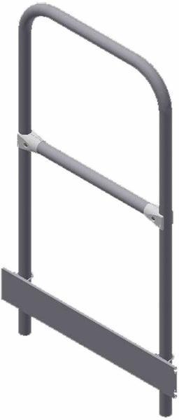 Zarges Stirnseitiges Plattformgeländer, abnehmbar, 600 mm