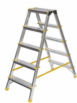 hanselifter-aluminium-trittleiter-beidseitig-begehbar-2x5-stufen-150kg-traglast