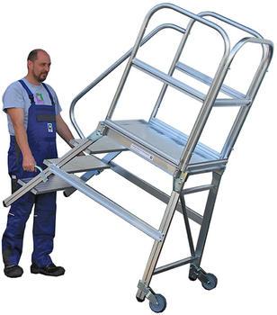 guenzburger-podestleiter-einseitig-rollen-griff-5-stufen
