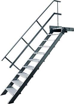 Hymer stationär mit Podest, Treppenneigung 60°, Stufenbreite 1000 mm, Standhöhe m, 475 22201019
