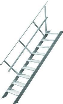Hymer Treppe stationär ohne Podest, Treppenneigung 45°, 1000mm, 13.St.