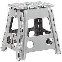 Zeller Klapphocker aus Kunststoff, 38,5x31,5x39 cm grau