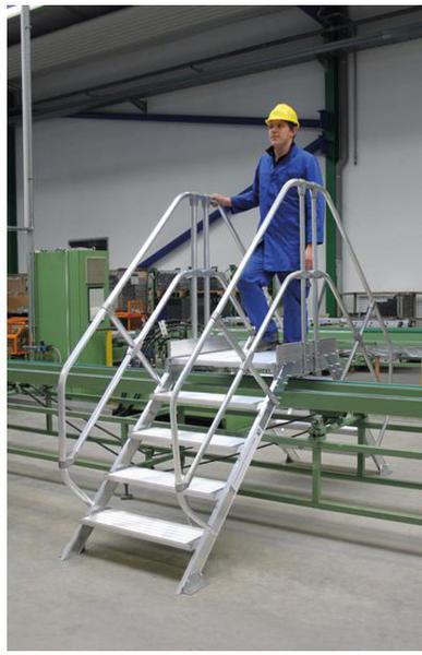 Günzburger Steigtechnik Alu-Überstieg 45° inkl. einen Handl