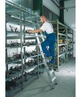 Günzburger Aluminium-Regalleiter fahrbar 10 Stufen