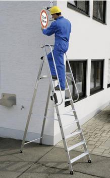 Günzburger Steigtechnik Aluminium-Stehleiter 4 Stufen Arbeitshöhe 295 cm