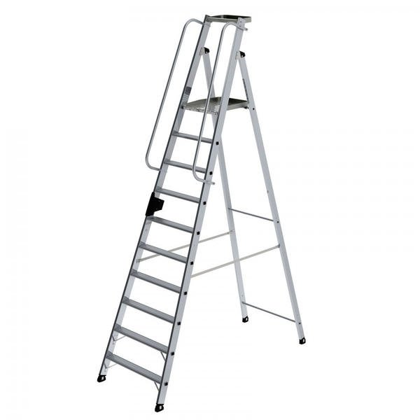 Günzburger Steigtechnik Aluminium-Stehleiter 10 Stufen