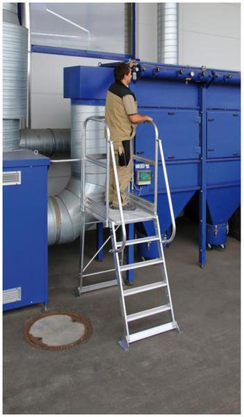 Günzburger Steigtechnik Aluminium-Podest-Treppe stationär 6 Stufen