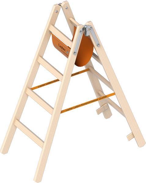 Layher Holz-Stehleiter 4 Sprossen (1053204)