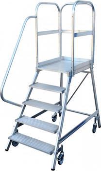 Günzburger Aluminium-Podestleiter 7 Stufen (50107)