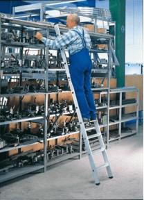 Günzburger Steigtechnik Aluminium-Regalleiter einhängbar 14 Stufen