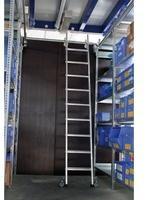 REGALWERK Aluminium-Regalleiter für Doppelregal seitlich verschiebbar Arbeitshöhe 4.060 mm