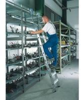 REGALWERK AluminiumRegalleiter fahrbar Arbeitshöhe 4.300 mm Leiterlänge 3.190 mm
