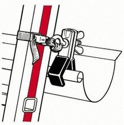 Hymer Leiternhalterset für Dachrinnen (0051528)