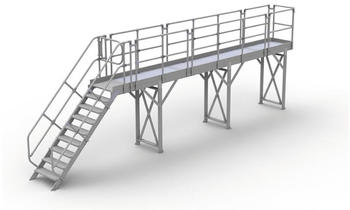 Günzburger Steigtechnik Laufsteg-Modul-Belag Aluminium geriffelt Plattformlänge 1,26 m (332001)