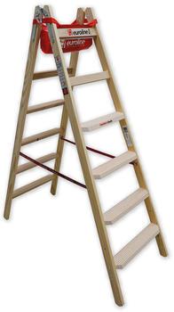 Euroline Leitern Holz-Comfort 2 x 6 Stufen (1057706)