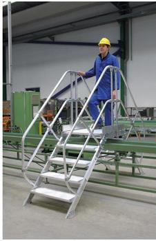 Günzburger Steigtechnik Aluminium-Überstiege 45° 4 Stufen (300954)