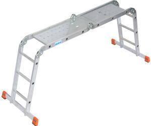 KRAUSE Krause Gelenk-Universal-Leiter MultiMatic 4x3 + Plattform (120687)