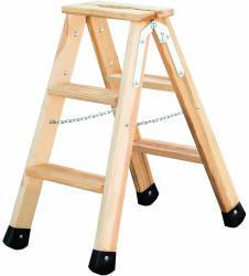 Günzburger Steigtechnik Stufen-Holzleiter 2x3 Stufen (33806)