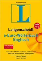 Langenscheidt e-Fachwörterbuch Englisch: Englisch-DeutschDeutsch-Englisch (DE) (Win)