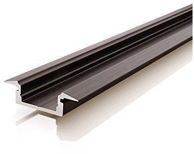 Deko-Light ET-01-10 flaches T-Profil für 10 - 11,3 mm LED Stripes, Schwarz-matt, eloxiert, 1000 mm