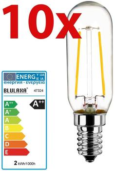 Blulaxa LED Birne T25 Globe E14 2W, 210lm warmweiss