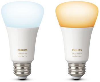 Philips Hue White Ambiance E27 Bluetooth Doppelpack