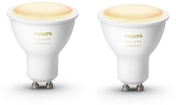 Philips Hue White Ambiance GU10 5,5W Bluetooth Doppelpack
