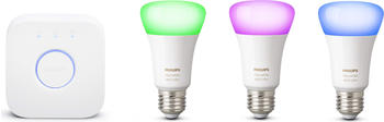Philips Hue White and Color Ambiance LED Starter Kit 3xE27 + Bridge Bluetooth