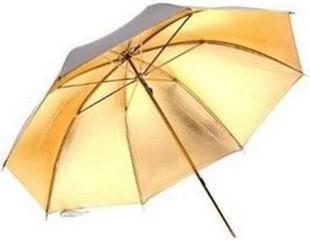 Bresser Studioschirm gold/silber 83cm austauschbar