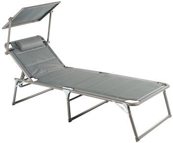 Meerweh Aluminium Gartenliege XXL mit Dach anthrazit (74066)