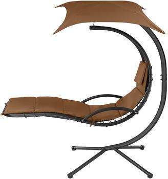 TecTake Hängeliege Kasia (195x118x202 cm) braun