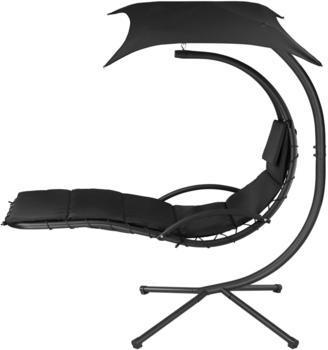 TecTake Hängeliege Kasia (195x118x202 cm) schwarz
