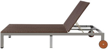 vidaXL Synthetic Rattan Double Lounger Brown (43976)